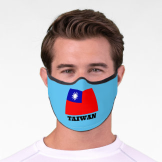 Flag of Taiwan, labeled Premium Face Mask