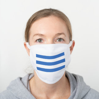 Flag of Tallinn, Estonia White Cotton Face Mask
