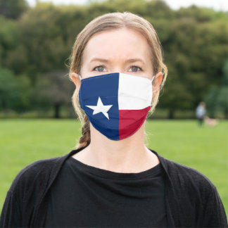 Flag of Texas State Adult Cloth Face Mask