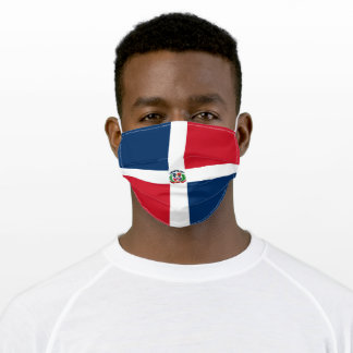 Flag of the Dominican Republic Adult Cloth Face Mask