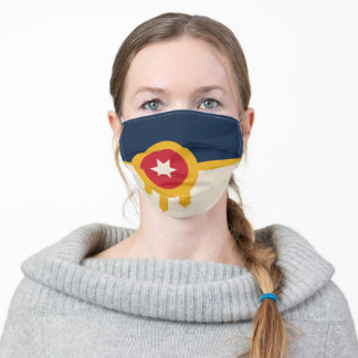 Flag of Tulsa (Oklahoma) Adult Cloth Face Mask