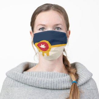 Flag of Tulsa, Oklahoma Adult Cloth Face Mask