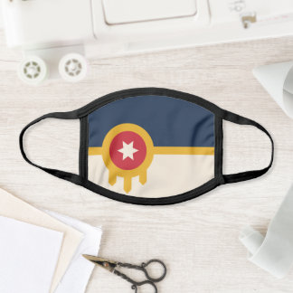 Flag of Tulsa, Oklahoma Face Mask