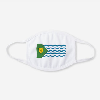 Flag of Vancouver, British Columbia White Cotton Face Mask