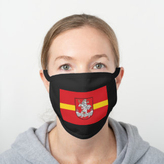 Flag of Vilnius, Lithuania Black Cotton Face Mask