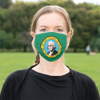 Flag of Washington (US State) Adult Cloth Face Mask