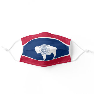 Flag of Wyoming Adult Cloth Face Mask