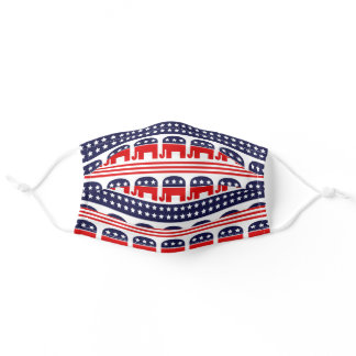 Flag republicans USA President elections red blue Adult Cloth Face Mask