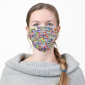 Flags of the World Adult Cloth Face Mask