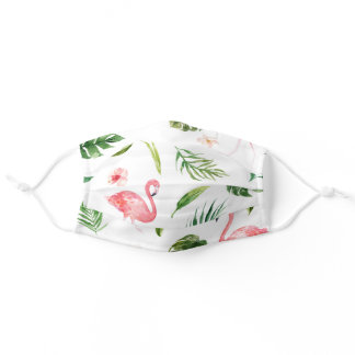 Flamingo Pattern Adult Cloth Face Mask