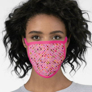 Flattering Pink Dotted Pattern Face Mask