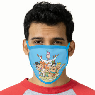 Flintstones Family Roadtrip Face Mask