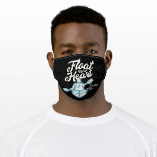 float with heart adult cloth face mask