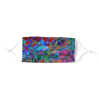 Floral Abstract Stained Glass Adult Cloth Face Mask