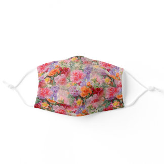 Floral Adult Cloth Face Mask
