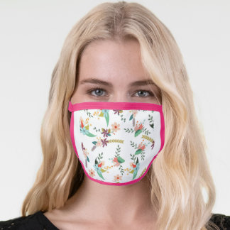 floral-backdrop-pattern-flower face mask