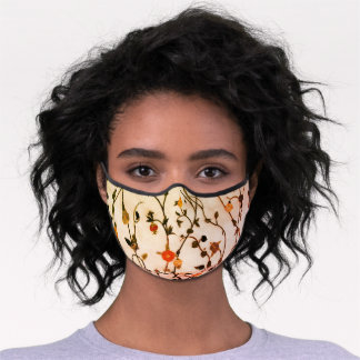 Floral embroidery on face mask