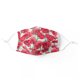 Floral Pattern Adult Cloth Face Mask
