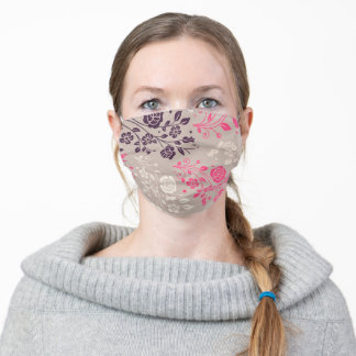 Floral To Protect And Be Safe Adult Cloth Face Mask
