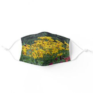Floral Yellow Daisies Garden Photo Adult Cloth Face Mask