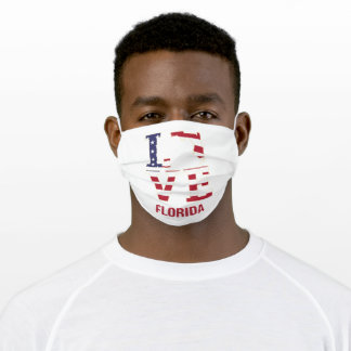 Florida USA State Love Adult Cloth Face Mask