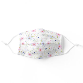 Flower Cloth Face Mask with Filter Slot