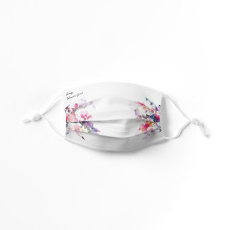 Flower Girl Floral Watercolor Kids' White Wedding Kids' Cloth Face Mask
