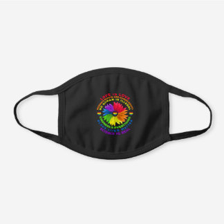 Flower Rainbow Human Black Lives Rights Science  Black Cotton Face Mask
