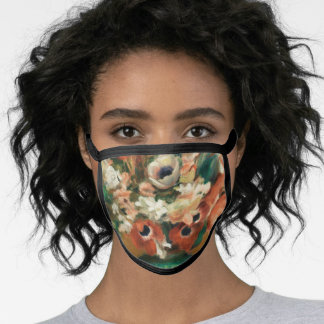 Flowers by Renoir Impressionist Art Painting Face Mask