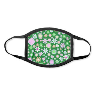 Flowery Meadow Illustration Face Mask