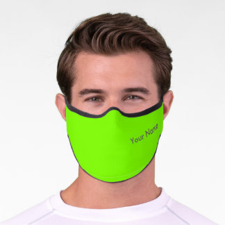 fluorescent green - your name premium face mask