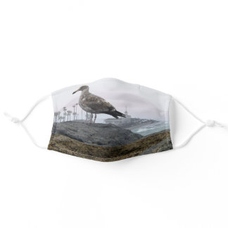 Foggy Morning in Newport Beach Adult Cloth Face Mask