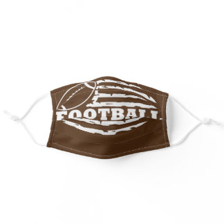 Football Distressed American Flag Adult Cloth Face Mask