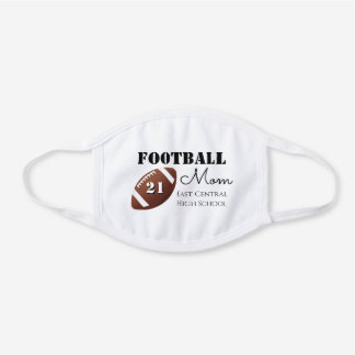 Football Gifts, Sports Moms White Cotton Face Mask