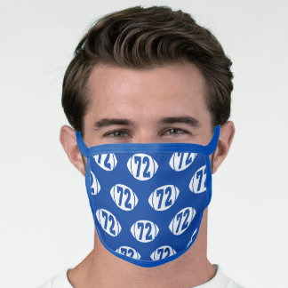 Football Number 72 Face Mask