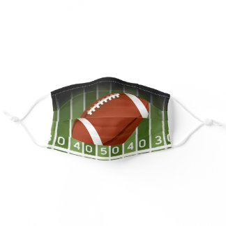Football on Field Yard Markers Adult Cloth Face Mask