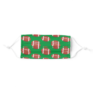 Football Pattern Adult Cloth Face Mask