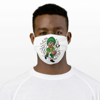 Football player adult cloth face mask