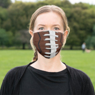 Football Print Pattern Background Adult Cloth Face Mask