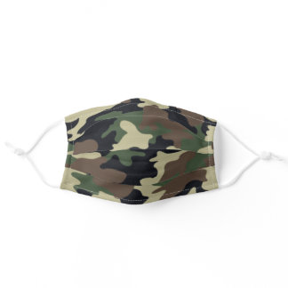 Forest Camouflage Adult Cloth Face Mask