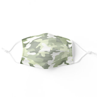 Forest Green Camouflage Adult Cloth Face Mask