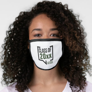 Forest Green Class Year Speech Bubble Face Mask
