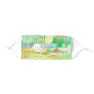 Forest Scene Adult Cloth Face Mask