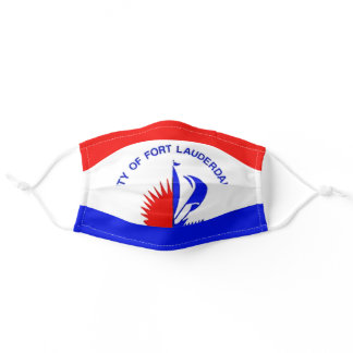 Fort Lauderdale, Florida City Flag Cloth Face Mask