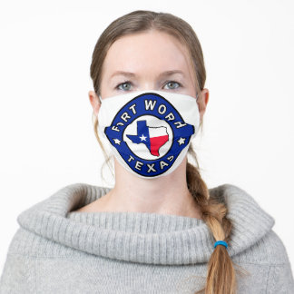 Fort Worth Texas Adult Cloth Face Mask