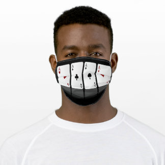 Four Aces Playing Cards Adult Cloth Face Mask