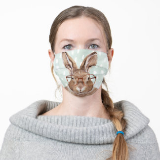 Four-Eyed Forester   Bunny Rabbit Adult Cloth Face Mask
