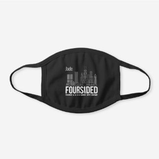 Foursided Chicago Employee Black Cotton Face Mask