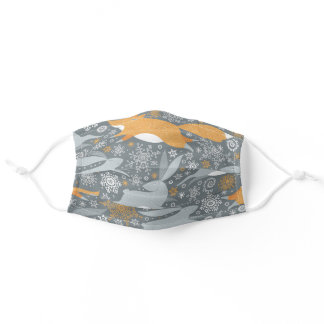 Foxes and Rabbits Adult Cloth Face Mask