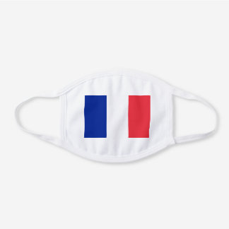 France French Flag Unisex For Him Dad Son Hubby White Cotton Face Mask